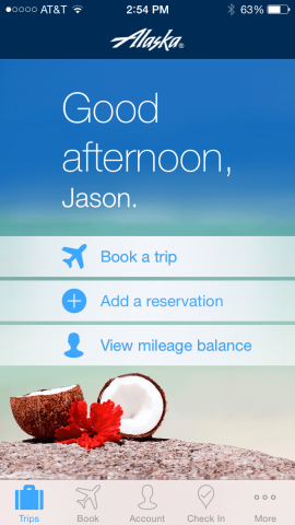 Alaska mobile app